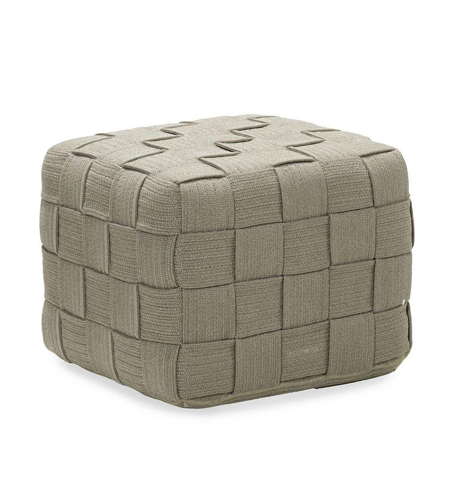 Cane-line Cube Footstool 8340ROT Outdoor Taupe Rope Ottoman