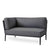 Cane-line Conic 2-Seater - Right Outdoor Sectional with Grey AirTouch 8534AITG