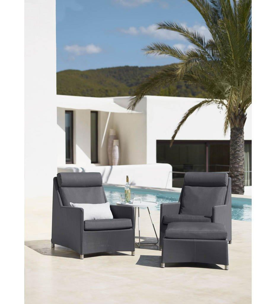 Cane-line Diamond Grey Tex/Sunbrella Outdoor Highback Chair 8403TXSG