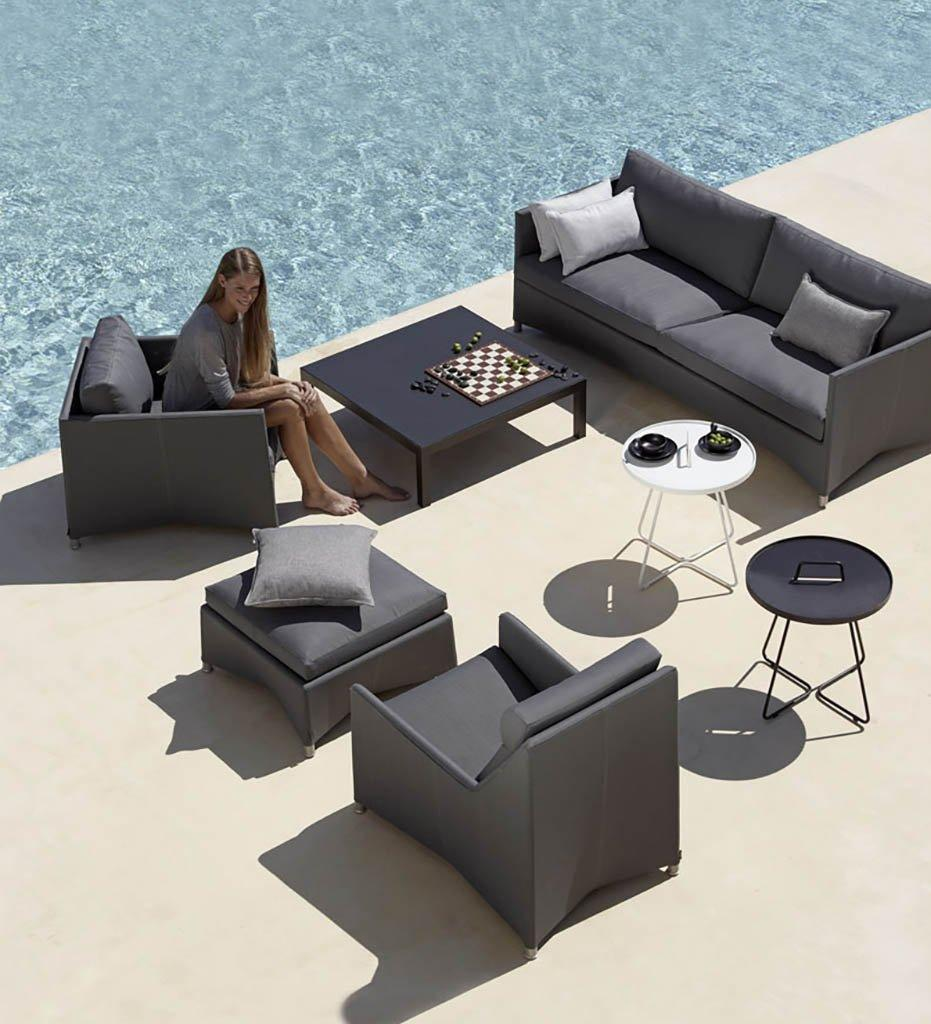 Cane-line Diamond Grey Tex/Sunbrella Outdoor Lounge Chair 8402TXSG