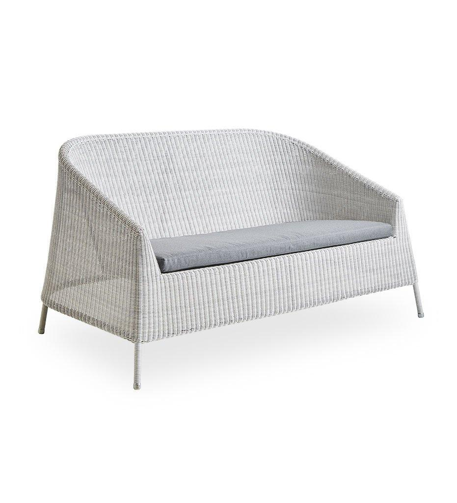 Cane-Line-Kingston sofa white-grey grey YSN95