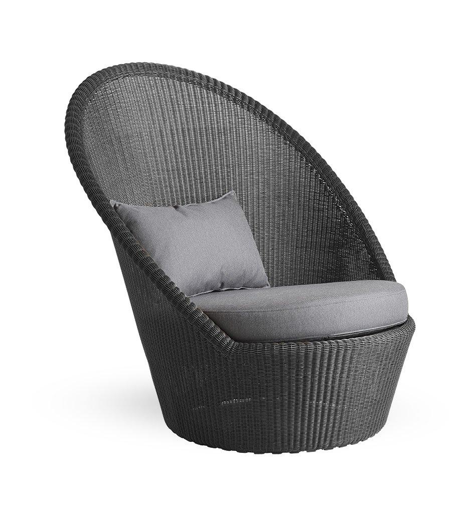 Cane-Line Kingston sunchair graphite grey YS95