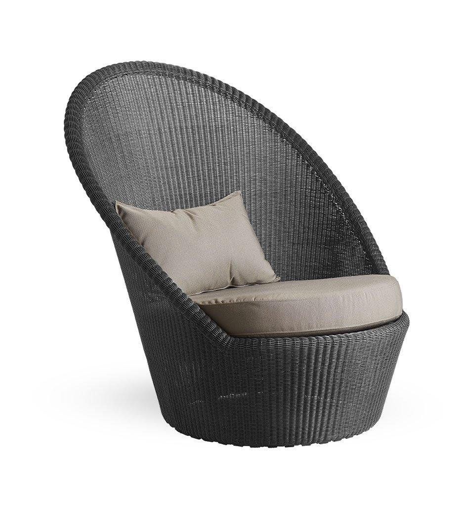 Cane-Line Kingston sunchair graphite taupe Y36