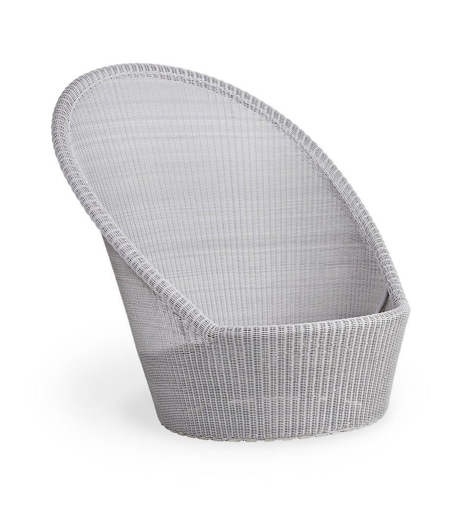 Cane-Line Kingston sunchair white grey