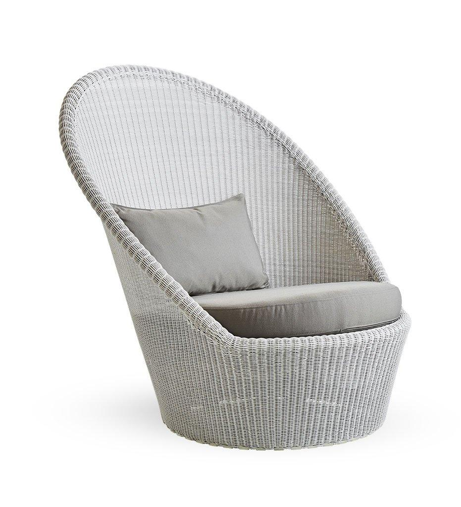 Cane-Line Kingston sunchair white-grey taupe Y36