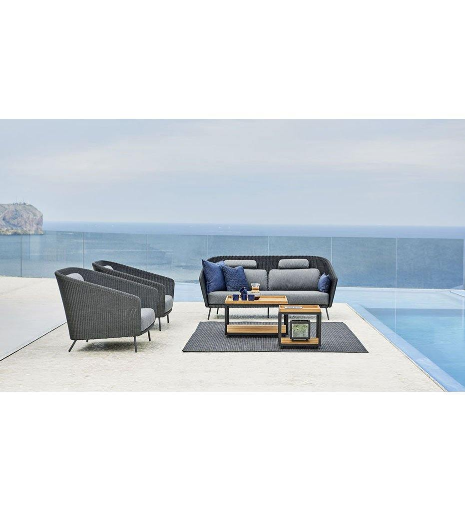 Cane-line Mega 2 Seater All-Weather Rattan Outdoor Sofa 55102LG
