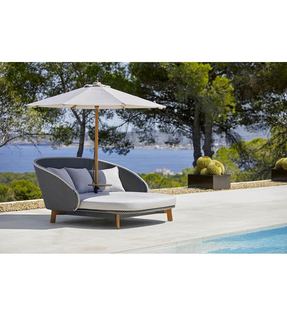 Classic Umbrella - Low for Peacock Daybed