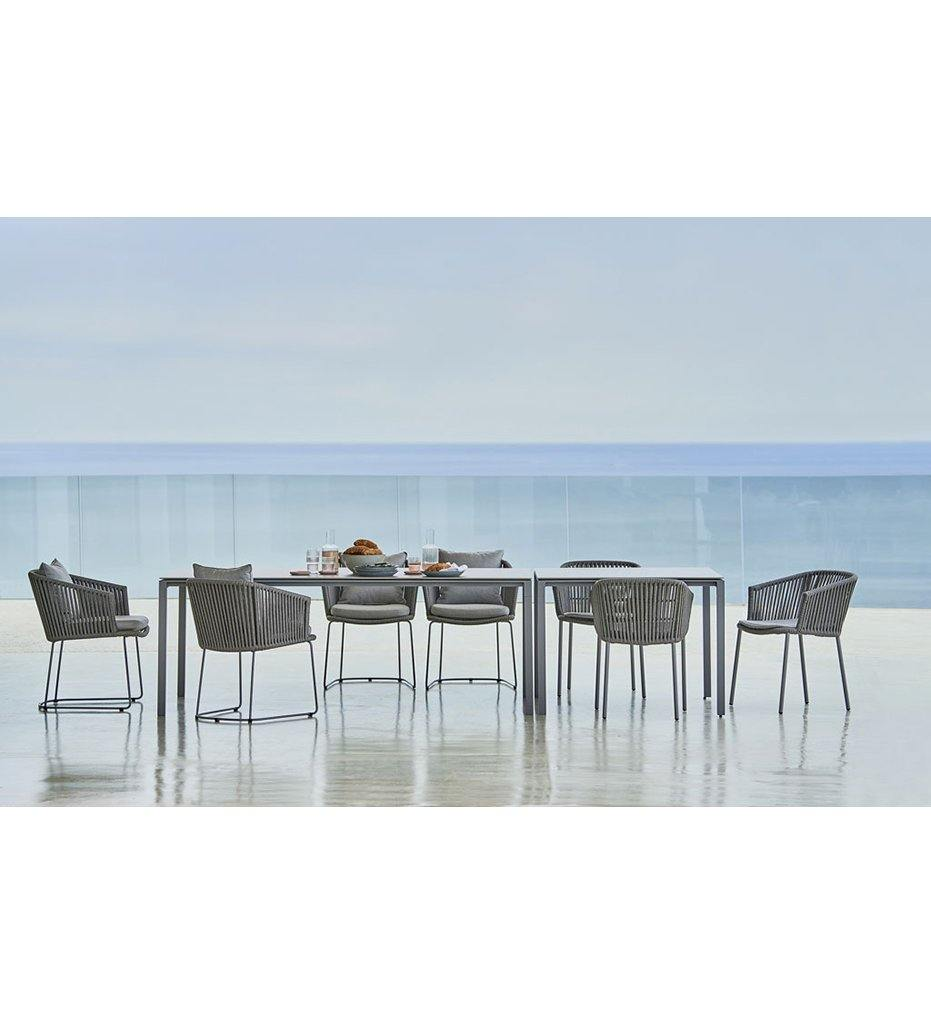 Pure Dining Table - Aluminum Square