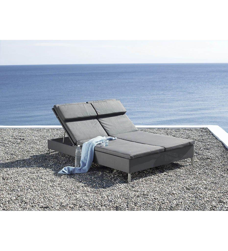 Cane-line Rest Double Sunbed Outdoor Chaise Grey 8511TXG