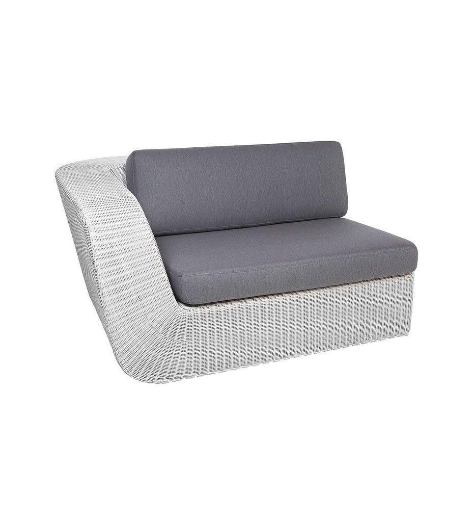 Cane-line Savannah 2 Seater Sofa - Right White Grey All-Weather Weave with Grey Cushions 5539W YS95