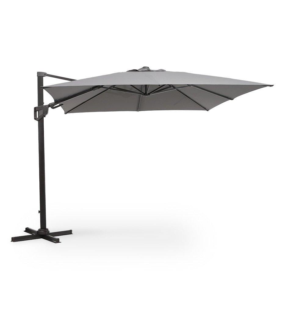 Hyde Luxe Tilt Square Umbrella - Polyester Anthracite