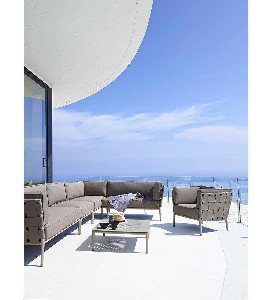 Conic Outdoor Lounge Chair - Light Grey AirTouch Cushions 8437 AITL