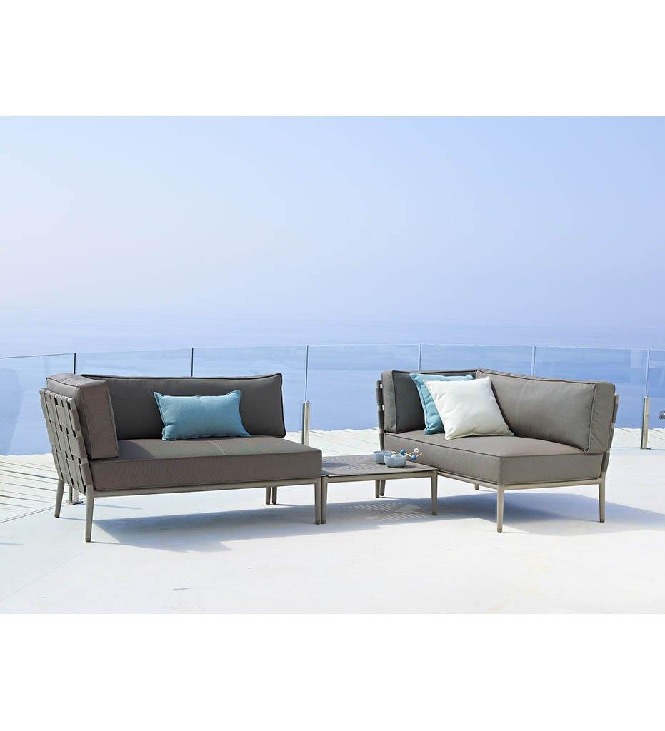Conic 2-Seater - Left Outdoor Sectional with Light Grey AirTouch 8533AITL