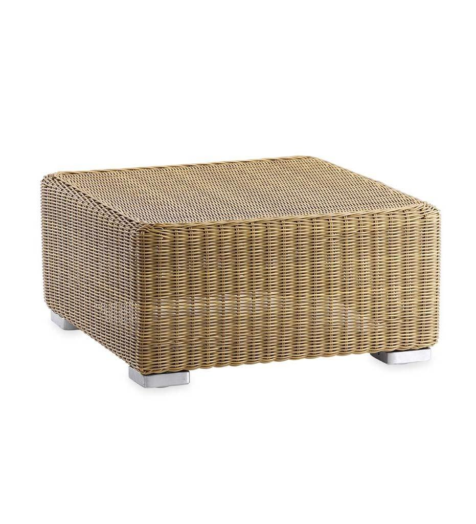 Cane-line Chester Ottoman / Coffee Table All-Weather Natural Rattan 5490U