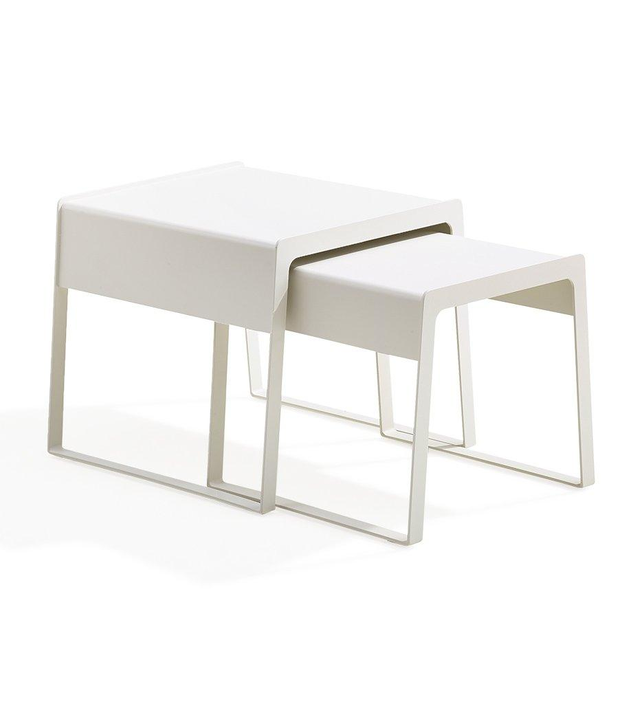 Cane-line Chill-Out White Aluminum Outdoor Side Tables 5014AW