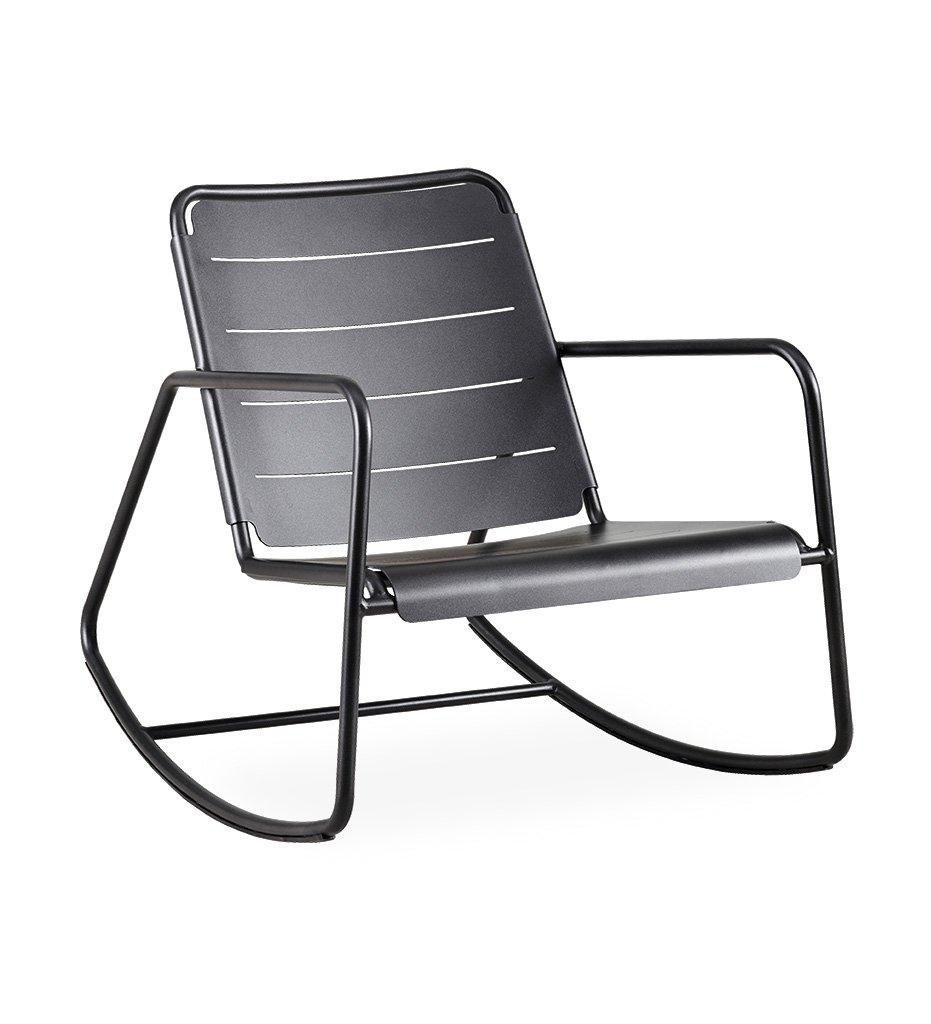 Cane-line Copenhagen Rocking Chair Outdoor Lava Grey Aluminum 11428AL