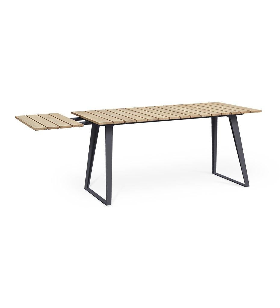 Cane-line Copenhagen Outdoor Dining Table 11030TAL - Grade A Certified Teak with Lava Grey Aluminum Base
