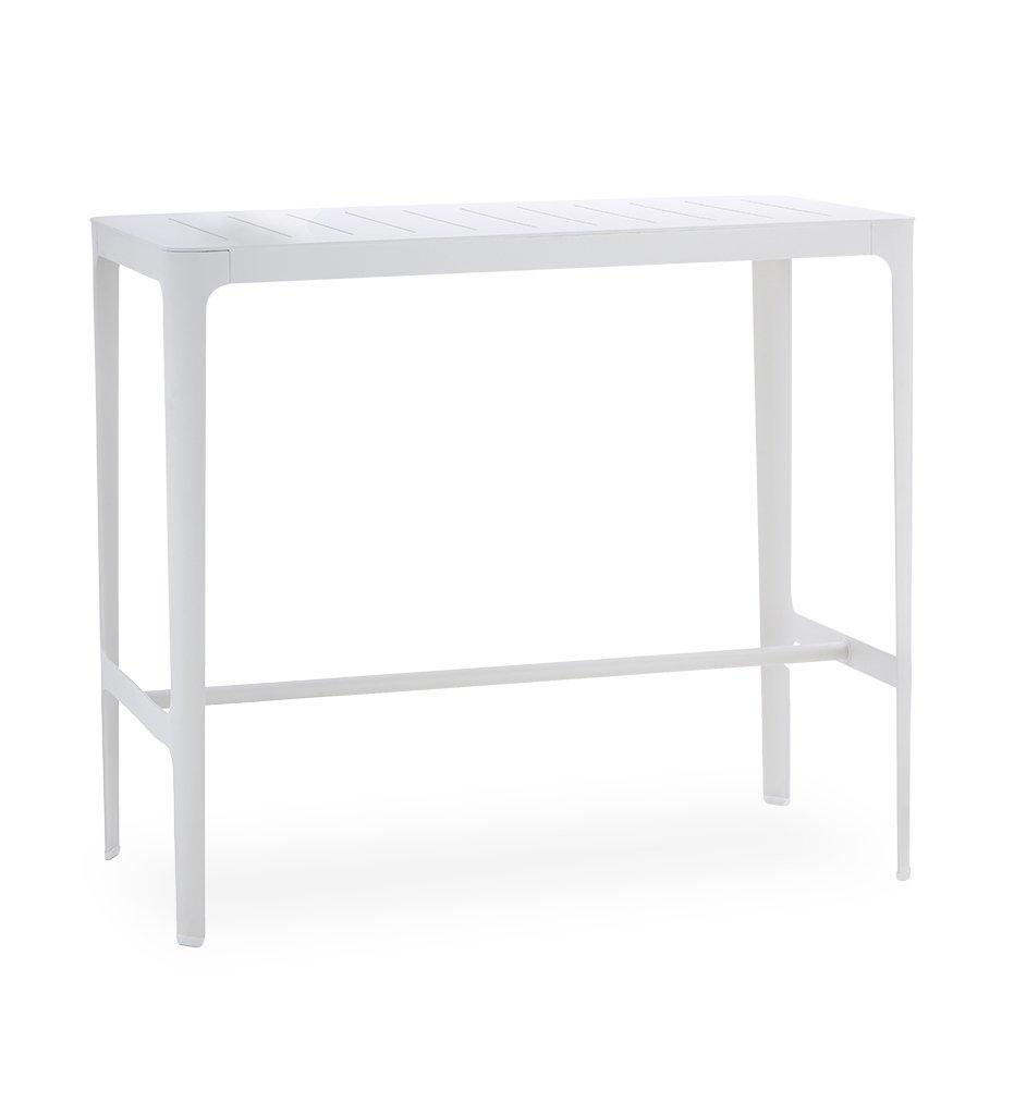 Cane-line Cut Outdoor Bar Table in White Aluminum 11501AW