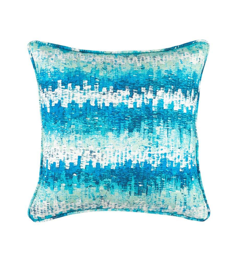 Dash and Albert Maldives Aqua Indoor/Outdoor Decorative Pillow
