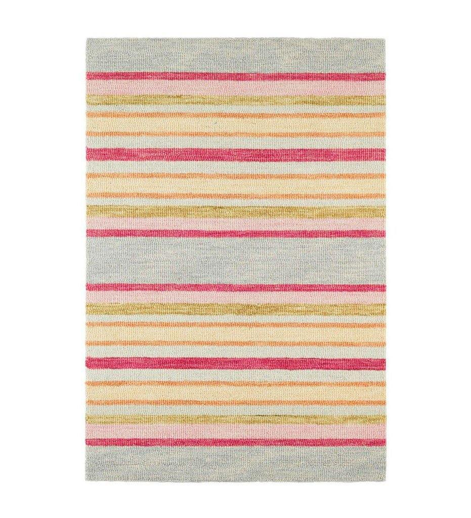 Dash and Albert Provence Stripe Micro Hooked Wool Rug