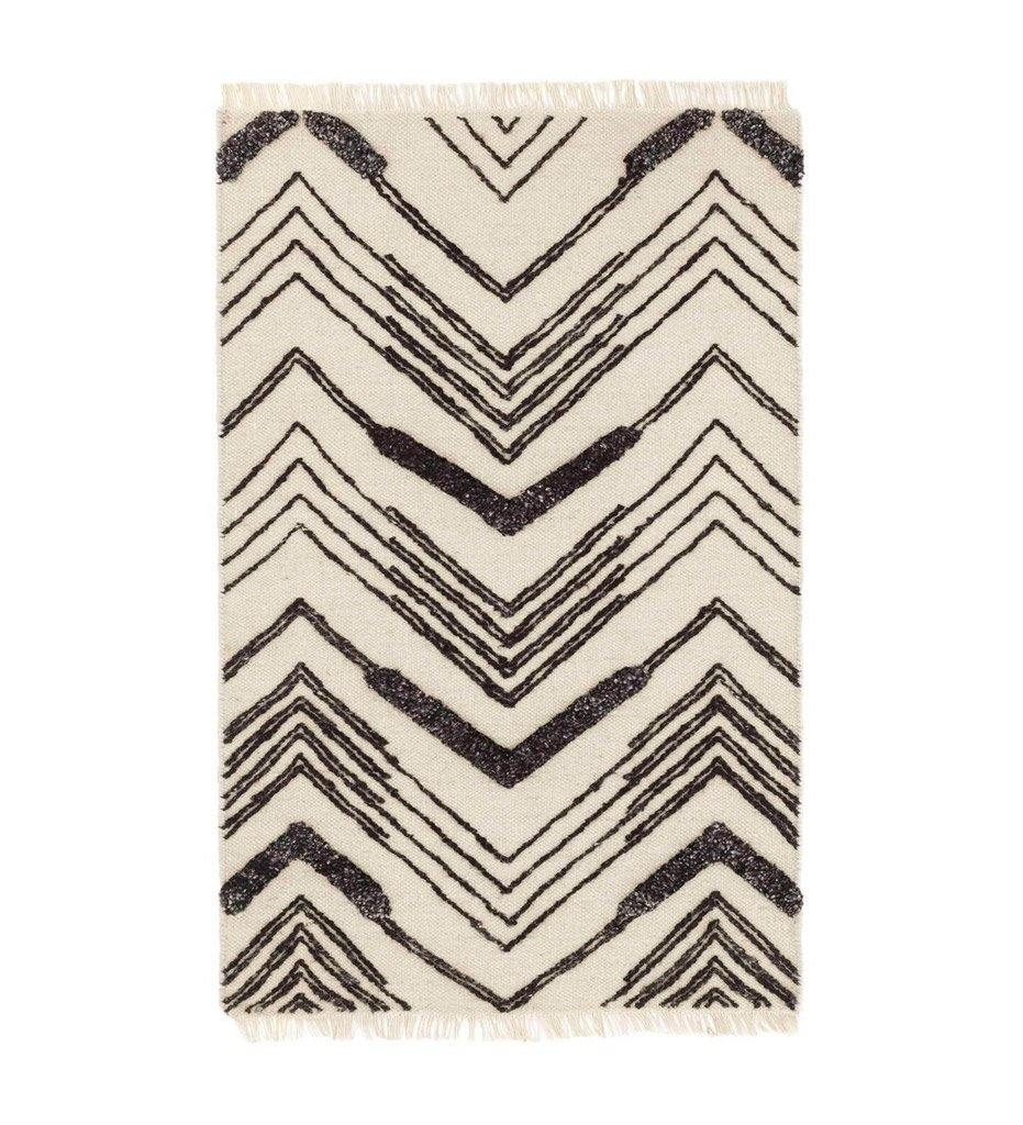 Dash and Albert Tasha Ivory/Black Woven Wool Rug