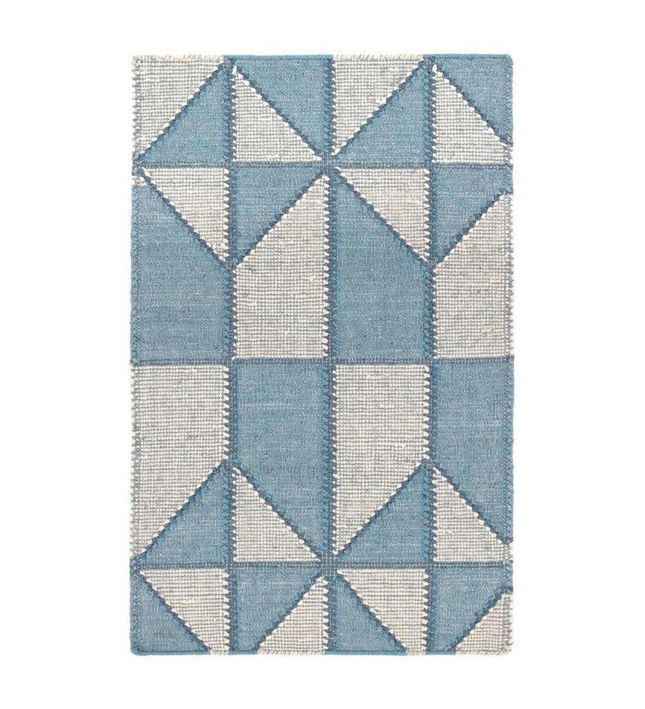 Dash and Albert Ojai Blue Loom-Knotted Cotton Rug