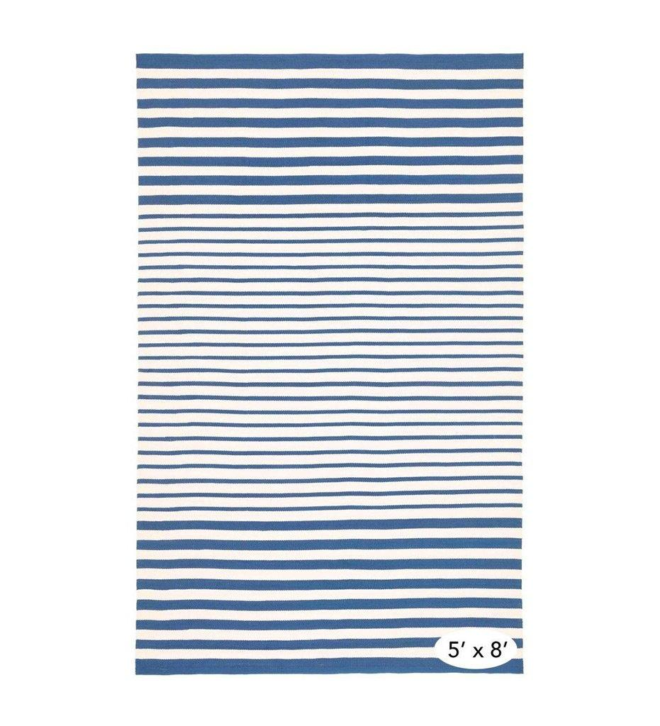 Dash and Albert Port Stripe Denim Indoor/Outdoor Rug