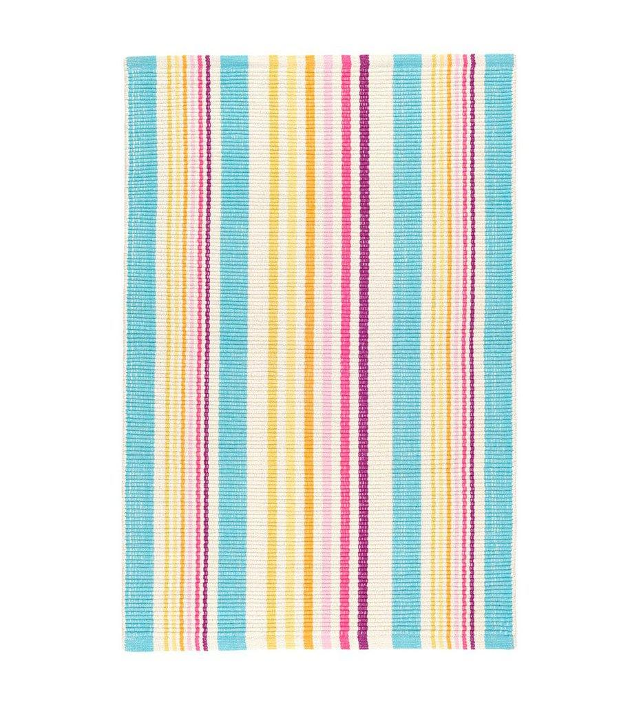 Dash And Albert Evia Stripe Woven Cotton Indoor/Outdoor Rug