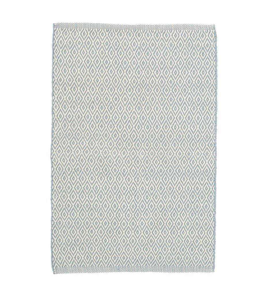 Dash and Albert Crystal Swedish Blue/Ivory Indoor/Outdoor Rug