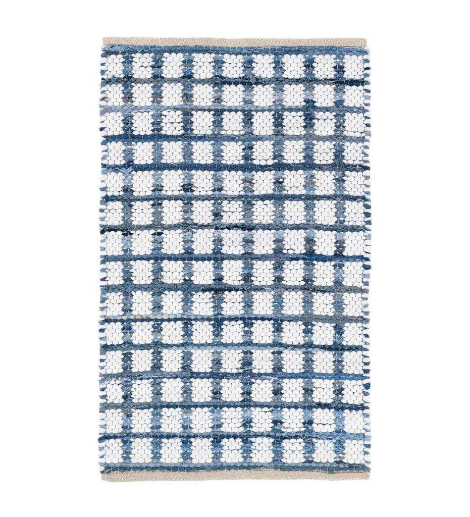 Dash and Albert Denim Rag Squares Woven Cotton Rug