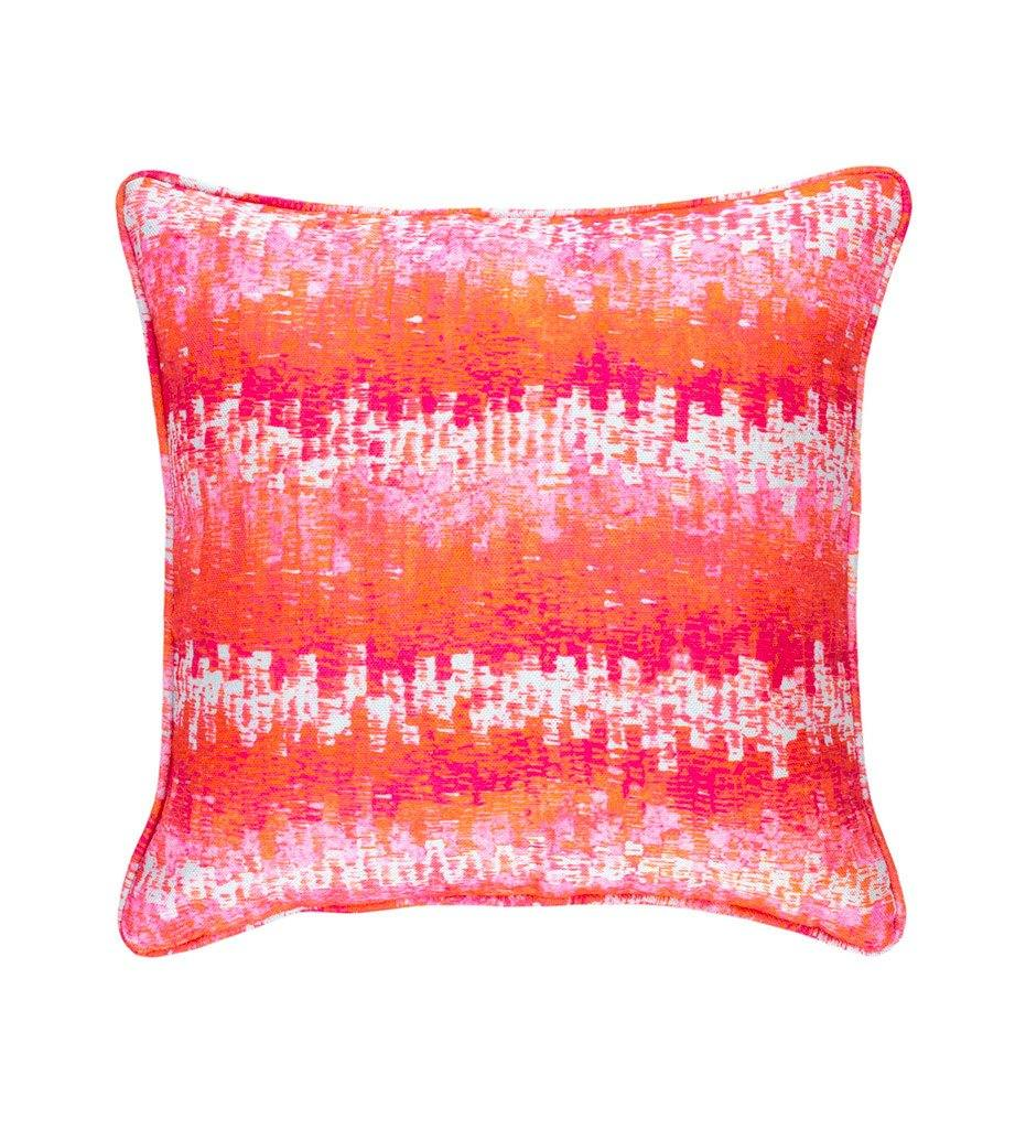 Dash and Albert Maldives Pink Indoor/Outdoor Decorative Pillow