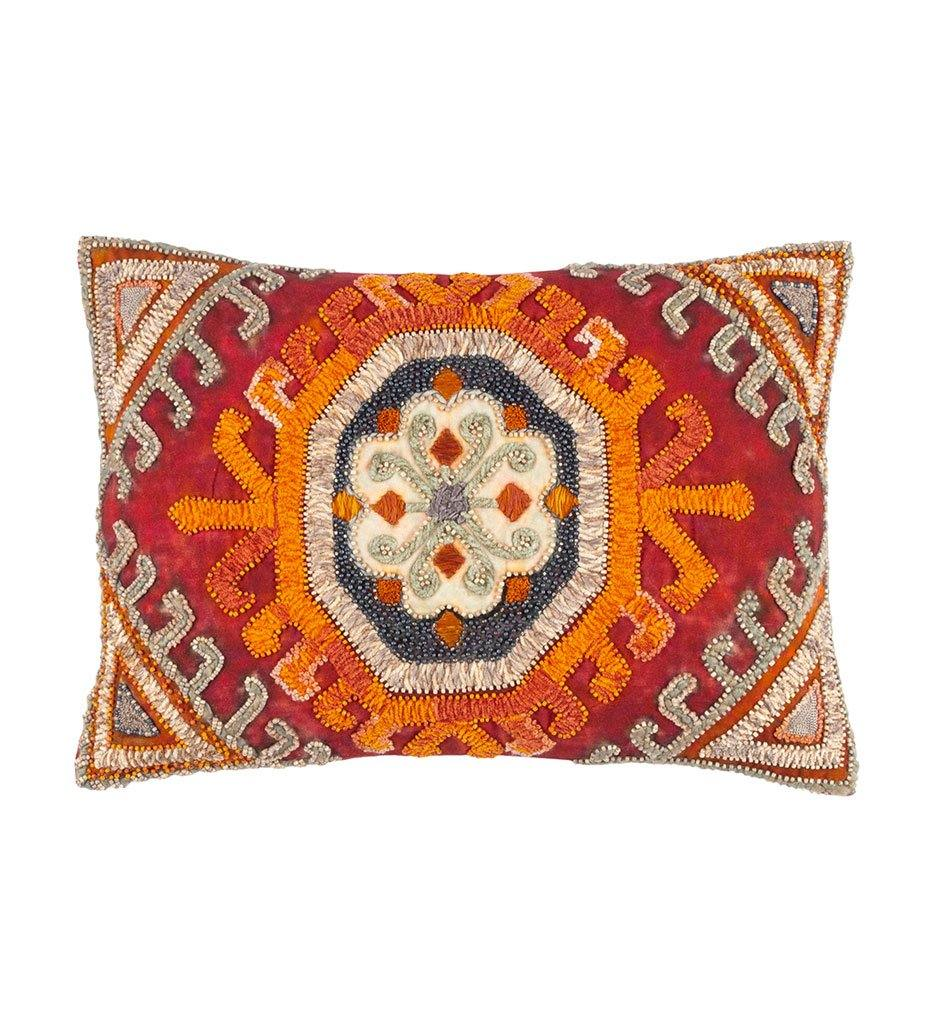 Dash and Albert Farra Embroidered Decorative Pillow