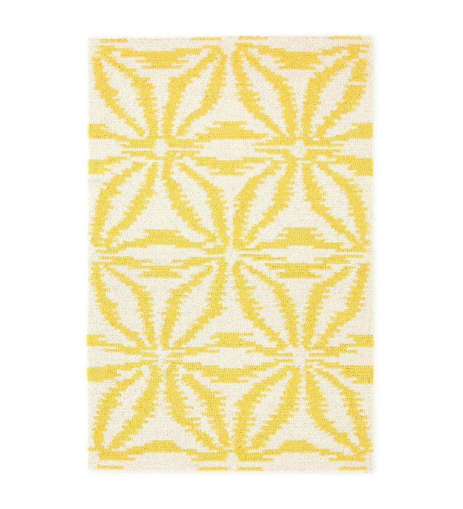 Dash and Albert Aster Gold Micro Hooked Wool Rug