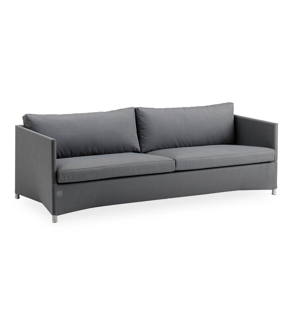 Cane-line Diamond Grey Tex/Sunbrella 3-Seater Outdoor Sofa 8503TXSG