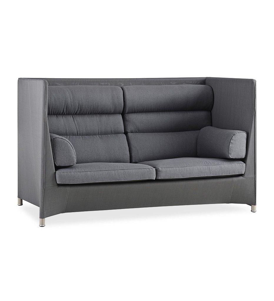 Cane-line Diamond Grey Tex/Sunbrella Highback Outdoor Sofa 8504TXSG