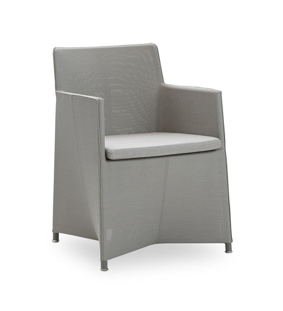 Cane-line Diamond Light Grey Tex/Sunbrella Outdoor Dining Arm Chair 8401TXSL