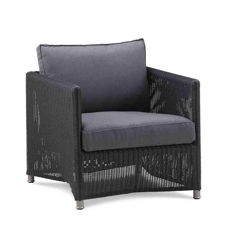 Cane-line Diamond Graphite All-Weather Weave Lounge Chair 8402LGSG