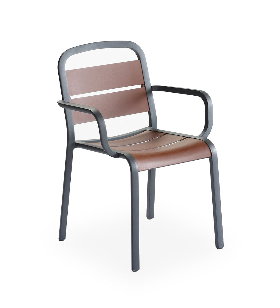 EGO Paris Marumi Arm Chair - Aluminum