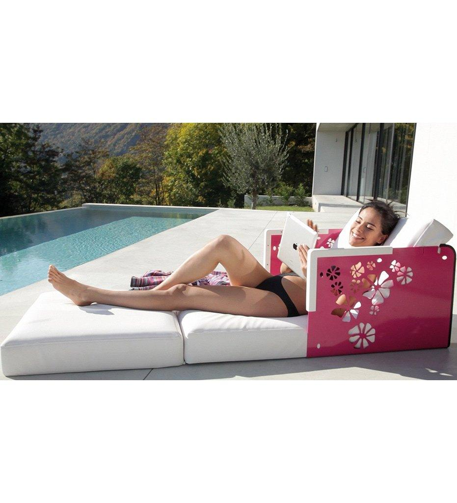 lifestyle, EGO Paris Kube Lounge Chair/Chaise - Flowers/Corian