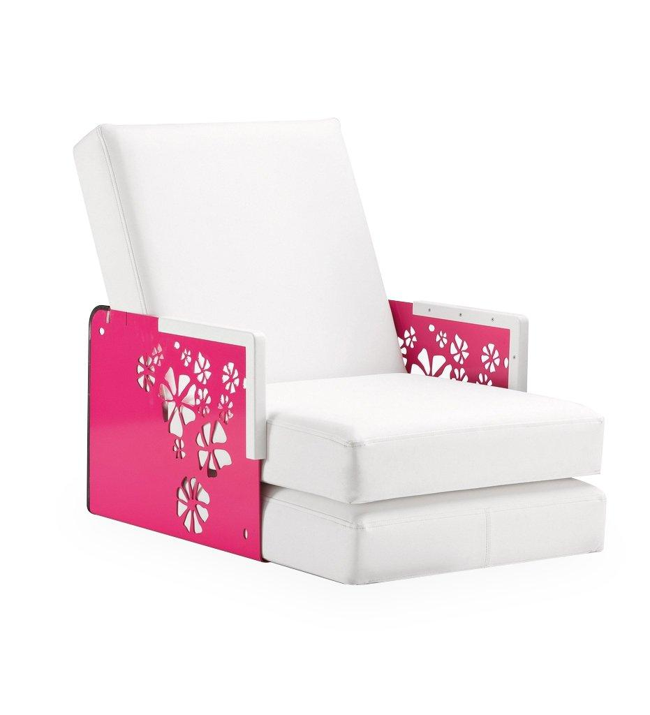 EGO Paris Kube Lounge Chair/Chaise - Flowers/Corian