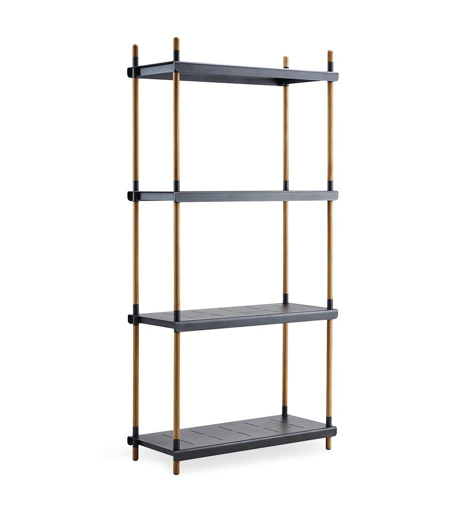 Cane-line Teak Frame and Lava Grey Aluminum Shelves 5799TAL