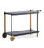 Cane-line Frame Bar Trolley with Teak Frame and Lava Grey Shelves 5170TAL