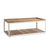 Cane-line Level Outdoor Rectangular Coffee Table with White Aluminum and Teak 5009AWT