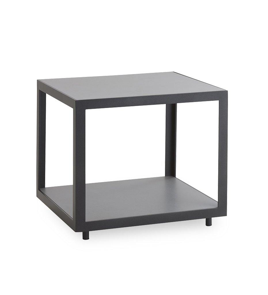Cane-line Level Square Table with Lava Grey Aluminum and Light Grey Ceramic 5007ALTII