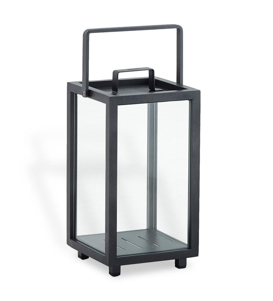 Cane-line Lighthouse Outdoor Lava Grey Aluminum Small Lantern 5724AL
