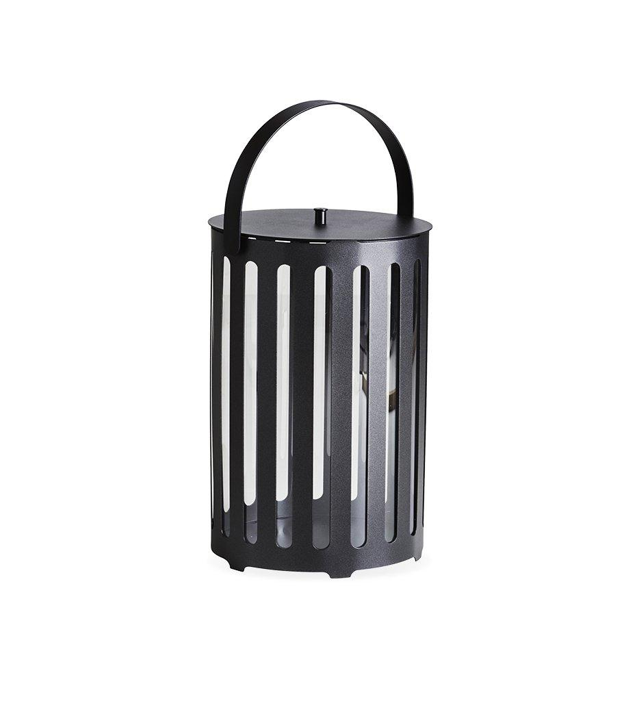 Cane-line Lighttube Outdoor Lantern in Lava Grey Aluminum 5741AL