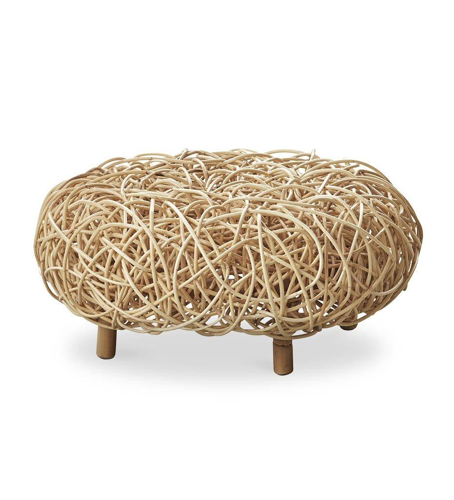 Cane-line Loop Ottoman Natural