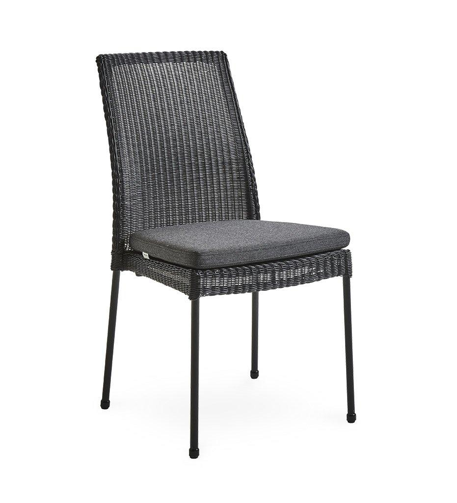 Cane-line Newport Outdoor Black All-Weather Weave Rattan Dining Chair 5432LS Black Cushion YSN98
