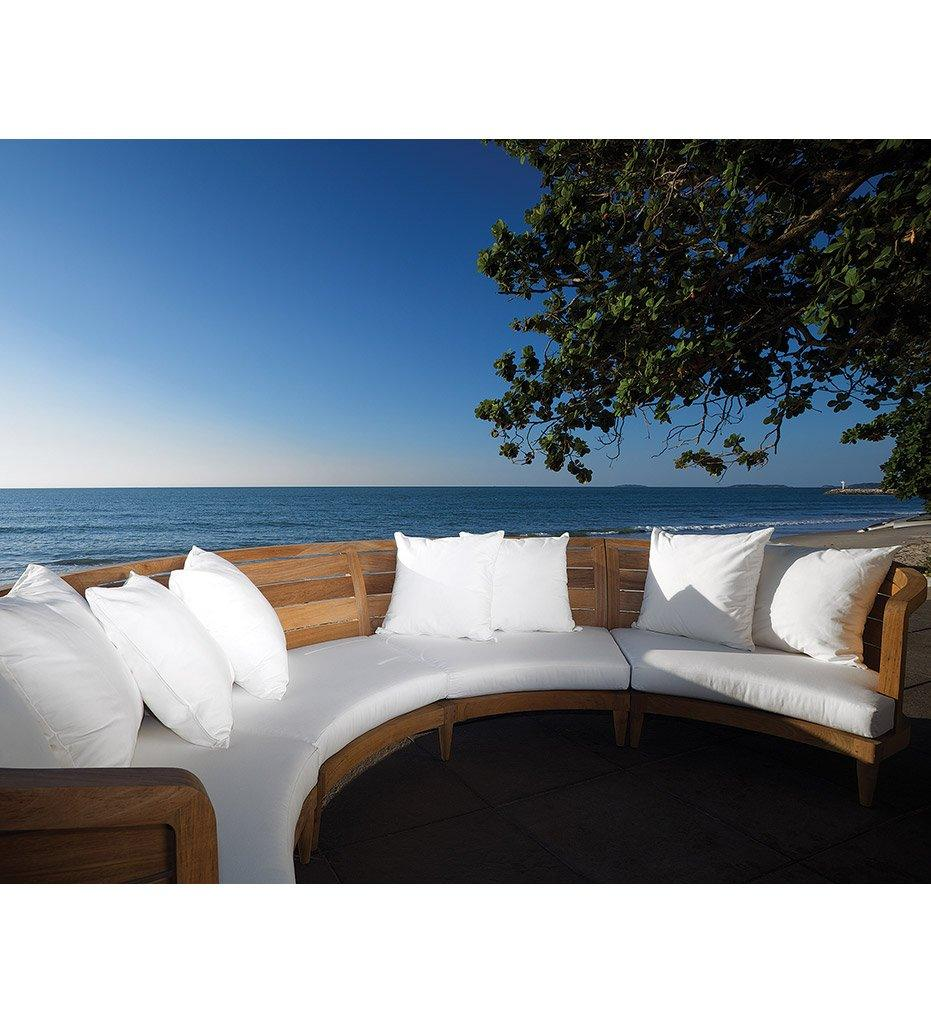 Oasiq | Outdoor | Limited 200 Sectional - Left | Teak Frame and Black Polypropylene Webbing