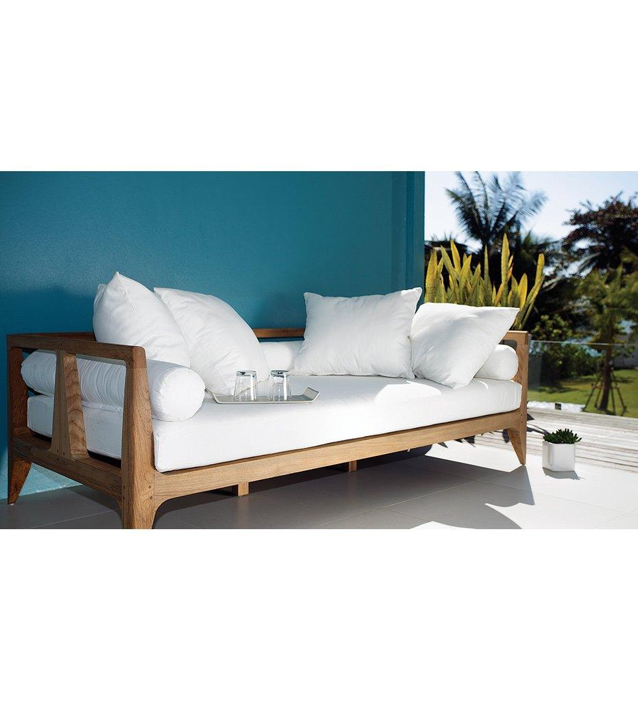 Oasiq | Outdoor | Limited 300 Daybed | Teak Frame | Black PP Webbing